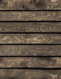 Fundo de pranchas de madeira naturais velhas marrons Fotografia de Stock