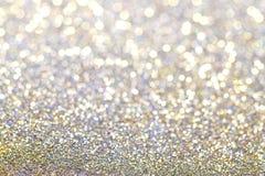 Fundo de prata abstrato do colorfulglittery Fotos de Stock Royalty Free