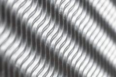 Fundo de prata bonito da estrutura das ondas Papel agradável com espaço para o texto fotografia de stock