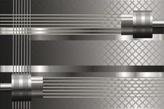 Fundo de prata com detalhes mecânicos Brilho metálico Fotos de Stock Royalty Free