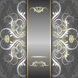 Fundo de prata com teste padrão elegante Imagens de Stock Royalty Free