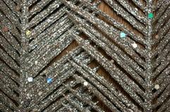 Fundo de prata da madeira da pena do brilho Imagem de Stock