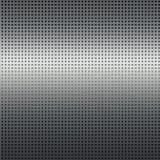 Fundo de prata da textura do metal com teste padrão de grade preto Fotos de Stock Royalty Free