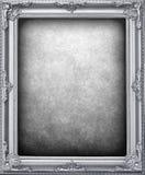Fundo de prata do frame Fotografia de Stock Royalty Free