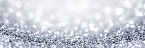 Fundo de prata do glitter fotografia de stock