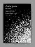 Fundo de prata do glitter Sparkles de prata no fundo preto ilustração royalty free