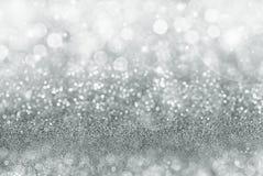 Fundo de prata do Natal Imagens de Stock