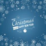 Fundo de prata do sumário do inverno Natal com flocos de neve Vetor Fotografia de Stock