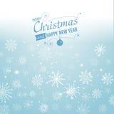 Fundo de prata do sumário do inverno Natal com flocos de neve Vetor Foto de Stock