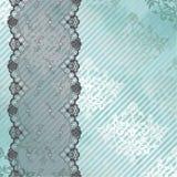 Fundo de prata e azul com laço preto Fotografia de Stock Royalty Free