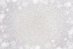 Fundo de prata simples de Glittle com uma beira da luz branca imagem de stock royalty free