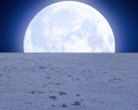 Fundo de Premade da lua do deserto Fotografia de Stock Royalty Free