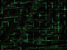 Fundo de programação abstrato verde do código ilustração stock