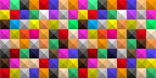 Fundo de quadrados coloridos com m?scaras sob a forma de um mosaico volum?trico geom?trico gr?fico ilustração royalty free