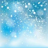 Fundo de queda da neve do inverno ilustração do vetor