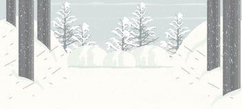 Fundo de queda da neve ilustração royalty free