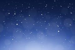 Fundo de queda da neve O inverno nevou ilustração do vetor do céu Fotografia de Stock Royalty Free