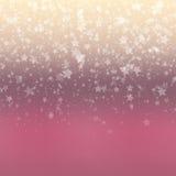 Fundo de queda da neve Teste padrão abstrato do floco de neve Fotos de Stock Royalty Free