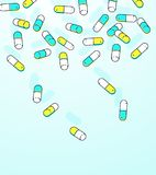 Fundo de queda das cápsulas coloridas ilustração do vetor