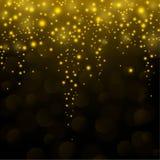 Fundo de queda do brilho da faísca do ouro Imagens de Stock Royalty Free