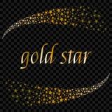 Fundo de queda do raio da estrela do Natal dois com voo de brilho do meteoro para se Ilustração do vetor Estrela do ouro Festiv Fotografia de Stock Royalty Free