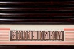 Fundo de rádio do seletor do vintage imagens de stock