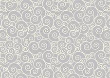 Fundo de repetição espiral branco do vetor do teste padrão Imagem de Stock