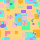 Fundo de repetição sem emenda das várias formas geométricas Fotografia de Stock