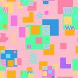 Fundo de repetição sem emenda das várias formas geométricas Foto de Stock