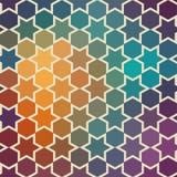 Fundo de repetir estrelas geométricas Parte traseira geométrica do espectro ilustração royalty free