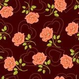 Fundo de Rosa ilustração royalty free