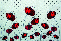 Fundo de Rose Fabric Foto de Stock
