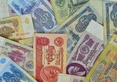 Fundo de rublos soviéticos foto de stock royalty free