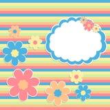 Fundo de Scrabbok com flores Imagem de Stock Royalty Free