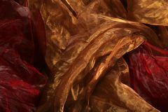Fundo de seda de matéria têxtil Foto de Stock Royalty Free
