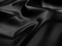 Fundo de seda preto abstrato de pano do cetim Fotos de Stock