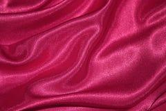 Fundo de seda vermelho do dia de Valentim - foto conservada em estoque Imagens de Stock Royalty Free