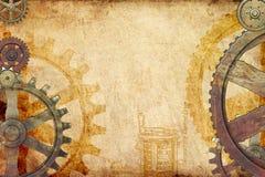 Fundo de Steampunk ilustração royalty free