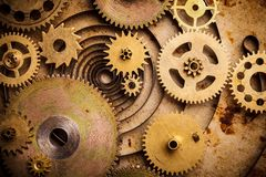 Fundo de Steampunk Fotos de Stock Royalty Free