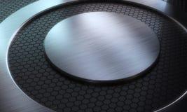 Fundo de superfície futurista da tecnologia abstrata Imagens de Stock Royalty Free