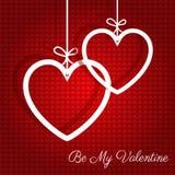 Fundo de suspensão do dia de Valentim dos corações ilustração stock