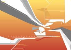 Fundo de Techno ilustração stock