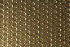 Fundo de tela de aço amarelo da malha Foto de Stock
