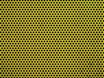 Fundo de tela amarelo da malha do metak ou do aço Fotografia de Stock
