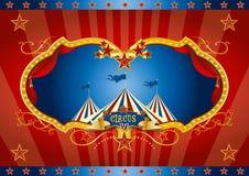 Fundo de tela vermelho do circo Foto de Stock Royalty Free