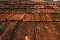 Fundo de telhas alaranjadas Imagem de Stock Royalty Free