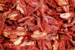 fundo de tomates maduros secados dos tomates Imagem de Stock