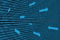 Fundo de transferência de dados binários Imagens de Stock Royalty Free