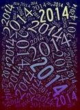 Fundo de um feriado de 2014 anos Imagem de Stock