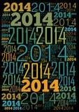 Fundo de um feriado de 2014 anos Foto de Stock Royalty Free